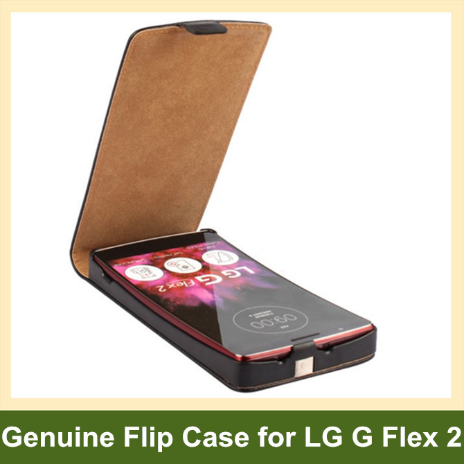 Luxury Genuine Leather Vertical Flip Cover Case for LG G Flex 2 H959 with Magnetic Snap 10pcs/lot Free Shipping