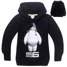 Long Sleeve  Big hero 6 Baymax Sweatshirts Casual Outwear Children Boys Spring Autumn Coat Kids Moletons Sudaderas con capucha