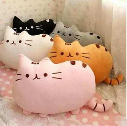 7 colors 40*30cm plush toy stuffed animal doll, anime toy pusheen cat pusheen skin girl kid kawaii,cute cushion brinquedos Kids(China (Mainland))