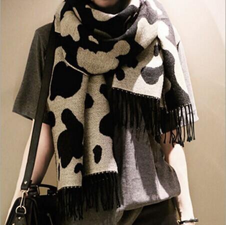 2016 новинка женские зимние шарфы универсальные мягкие пушистые женский продлен толще шарф леопарда трикотажные искусство досуг шаль