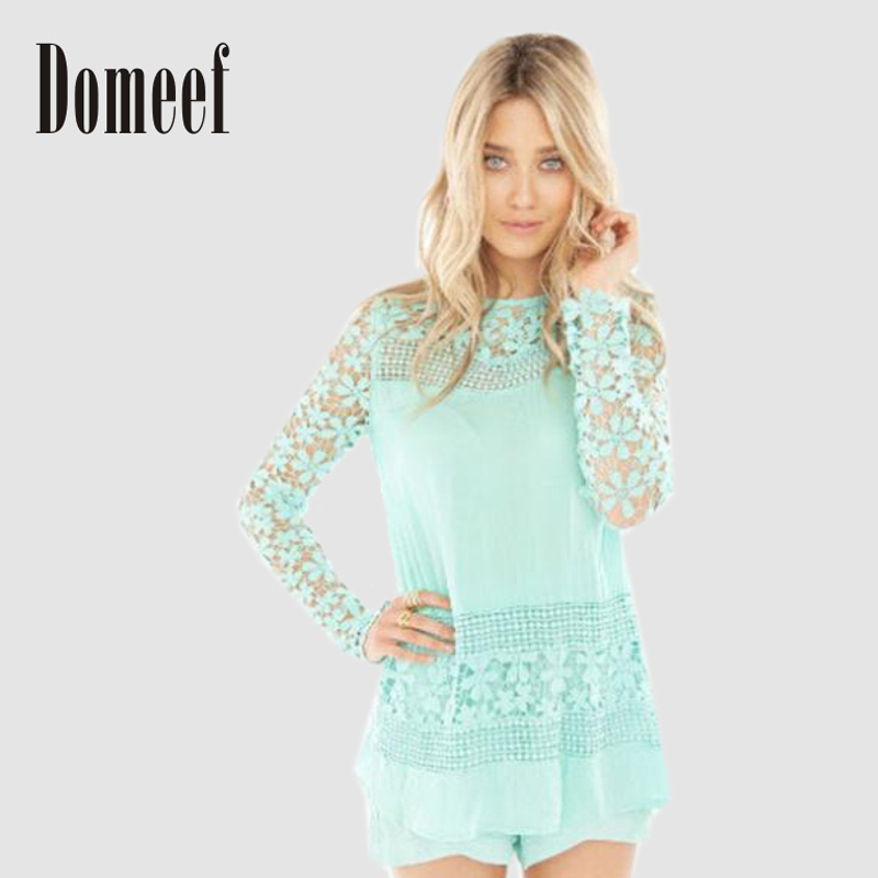 Sleeve Gorgeous Shirt Crochet Blusas Lace Crochet Blouse Female Shirt