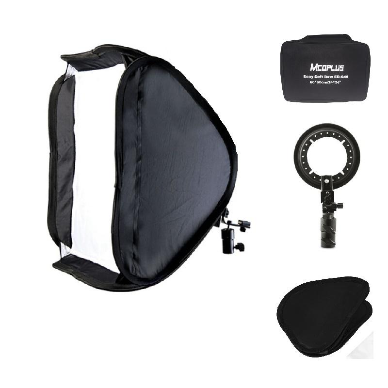 Mcoplus Flash Speedlite Softbox 60x60cm Bracket Mount Holder + 60 x 60cm Soft Box for Studio Photo Photography Accessories(China (Mainland))