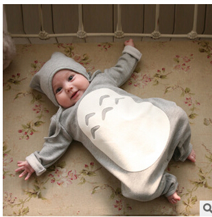 2015 new baby clothing Totoro rompers for newborns body suit kids clothes jumpsuit boys romper new born infant clothing(China (Mainland))