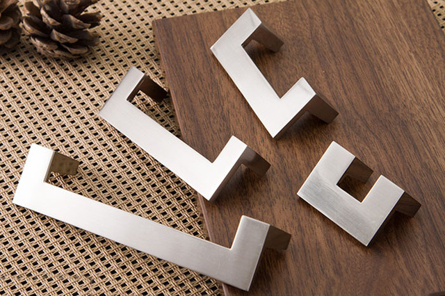 Minimalist Modern IKEA Style Cabinet Drawer Furniture Handle Pull Hardware(C.C.:128mm,Length:142mm)