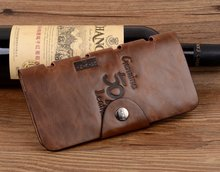 New 2015 Top Vintage Brand Wallets Western Cowboy Hasp Genuine Leather Wallet For Men Bags Free