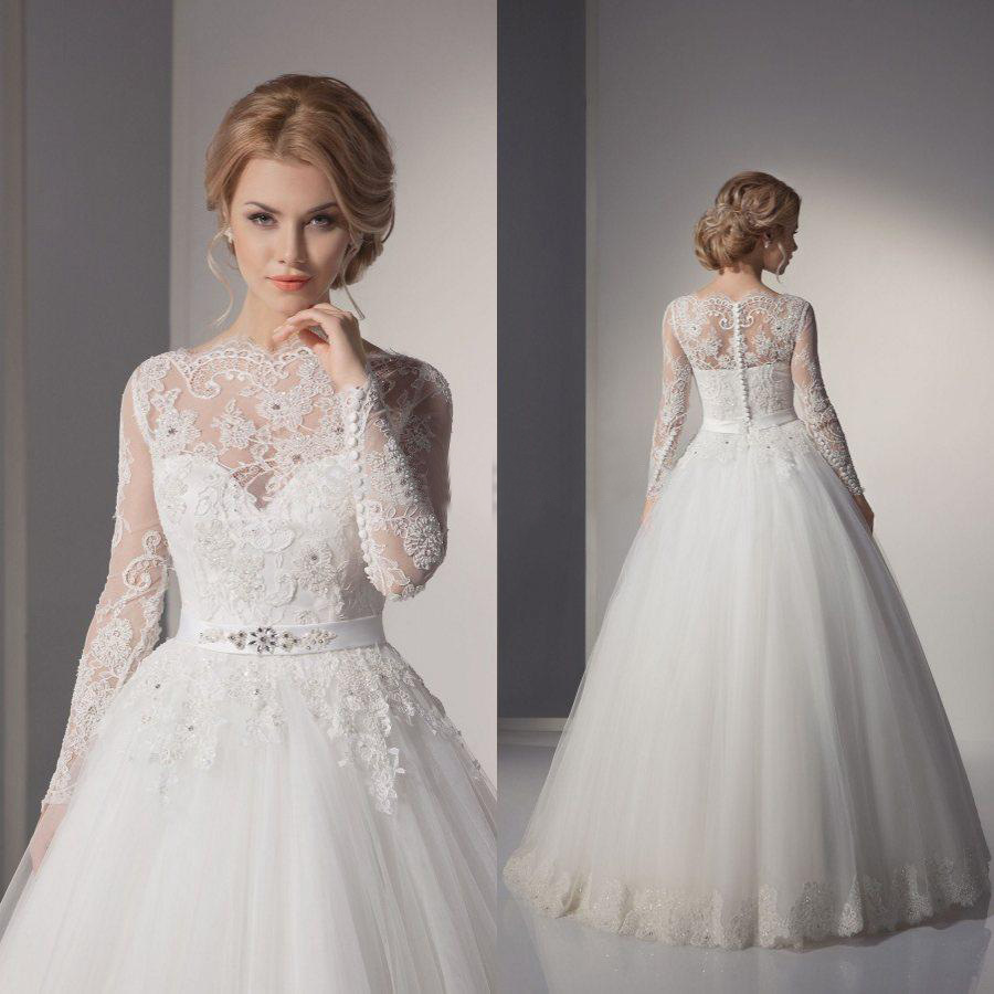 designer bridal dresses with sleeves