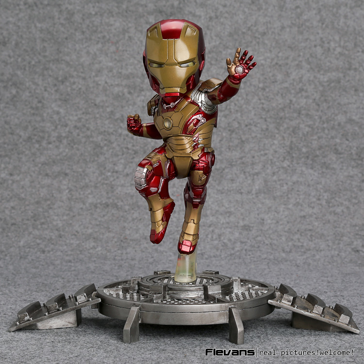 Фотография Super Hero Iron Man 3 Mark 42 XLII Resin Action Figure Collection Model Toy with LED Light HRFG148