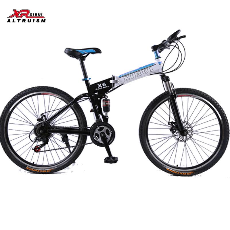 24 speed Mountain bicycles Folding Bikes 26 inch magnesium alloy wheels xirui X6 road bike spring fork for men women kids(China (Mainland))