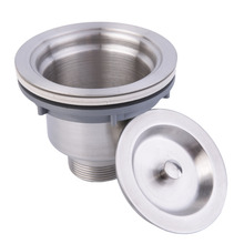 Stainless Steel Kitchen Sink Drain Assembly Waste Strainer and Basket(China (Mainland))
