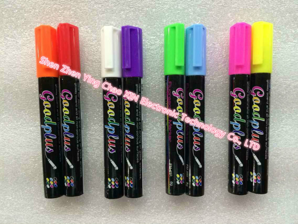 1 pc/lot Highlighter Liquid Chalk Marker Pen 8 Neon Colors 6mm Round&Oblique Interchangeable Tip For Chalkboard Sticker,Painting(China (Mainland))