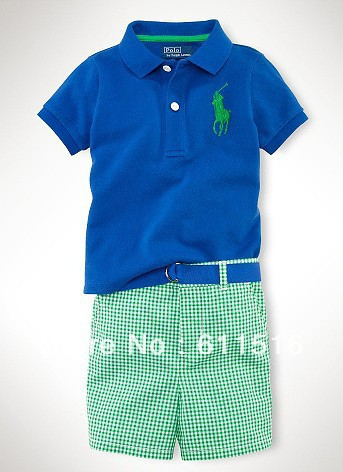 Free shipping 6 piece /lot  Boy Summer Clothes /Tshirt +Pants<br><br>Aliexpress