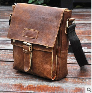 Freeshipping new 2015 genuine leather men bag vintage men messenger bags high quality nubuck men shoulder bag brand travel bags(China (Mainland))