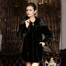 2015 marten overcoat ultralarge mink elegant fur coat(China (Mainland))