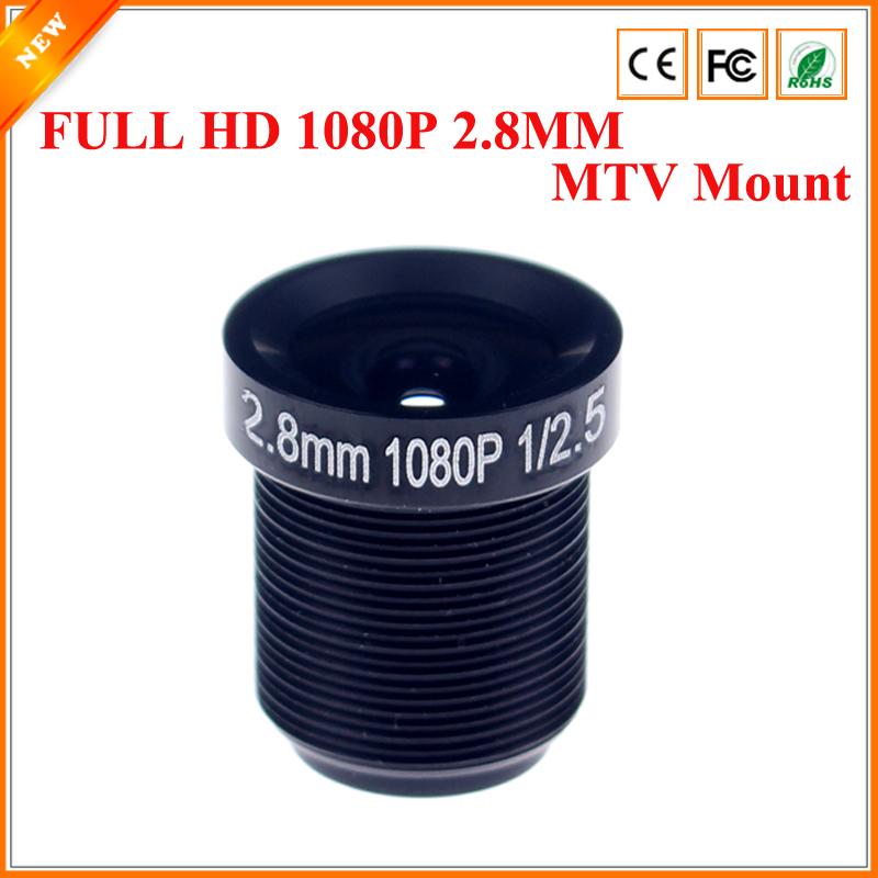 CCTV Lens 1080P 110degreee 1/2.5'' 2.8mm For HD Full HD CCTV Camera IP Camera M12*0.5 MTV Mount(China (Mainland))