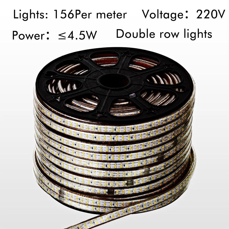 Led 220V smd2835 led strip +Power Plug neon tape lights fita waterproof tira strips tiras tape ruban 120led/m ribbon led bar(China (Mainland))