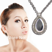 Free Shipping Cheap Costume Jewelry  Rhinestone Necklace Wholesale Personality Crystal Pendant Necklace T1343(China (Mainland))