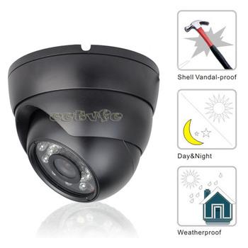 "Effio-es 1/3""CCD 750TVL 6mm Leds black domeCCTV Security Camera With OSD Menu FC01"