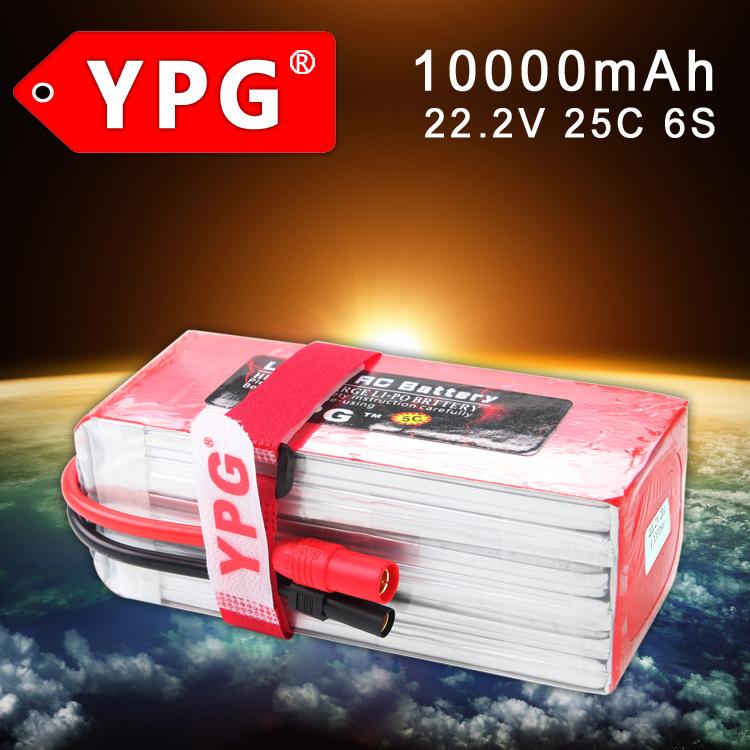 YPG 22.2V 10000mAh 25C Max 40C 6S RC LiPo Li-Poly Battery For DJI S800 S900 S1000 Airplans RC Models Quadcopters(China (Mainland))