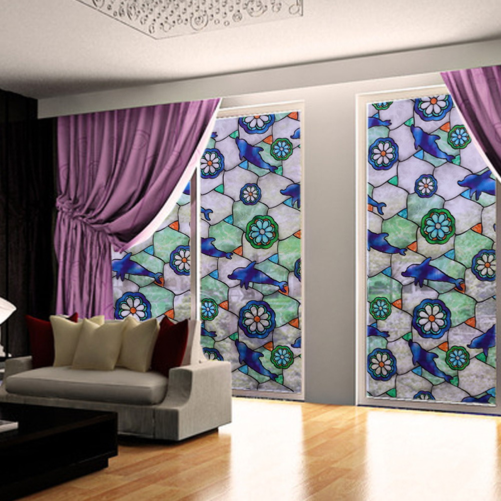 45cm 100cm Orchid Window Film Stained European Style Glass Window Film Home  Privacy DIY Decoration. Compare Prices on Window Privacy Stickers  Online Shopping Buy Low