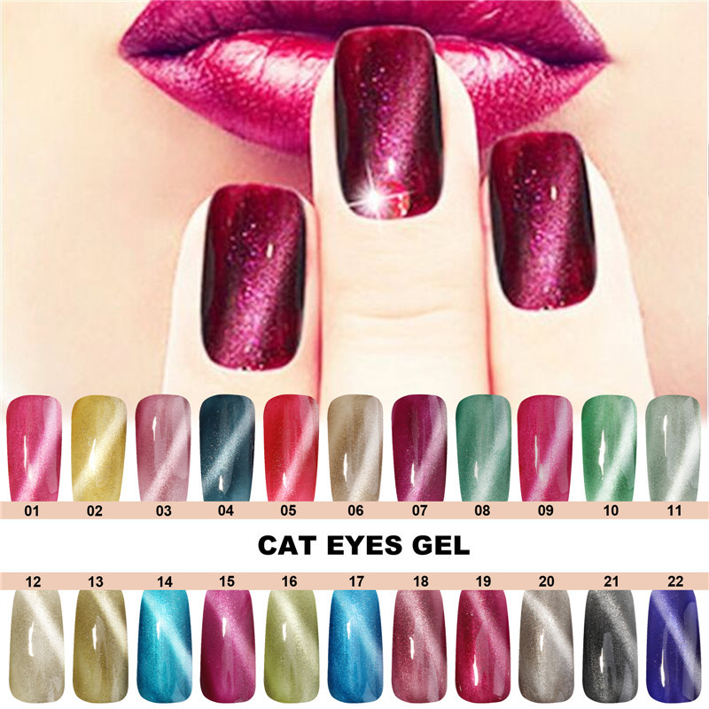 Perfect Summer Hot Sales LED Cat Eyes Gel Polish 10ML Long Lasting Nail Gel Lacquer High Quality Soak Off Gel Lacquer Nail Art(China (Mainland))