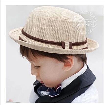 Fashion Trendy Kids Straw Paper Cap Children Toddler Panama Hat Beach Bucket Hats Fedoras Cowboy Summer Topee Caps Free Shipping(China (Mainland))