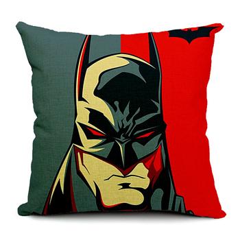 Batman Pillow Cover superhero cotton linen throw pillow case