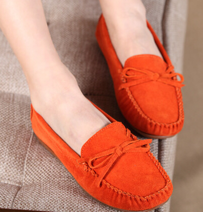 Women casual shoes genuine leather flat spring autumn mother nurse shallow mouth shoes Moccasins female Driving Peas more color<br><br>Aliexpress