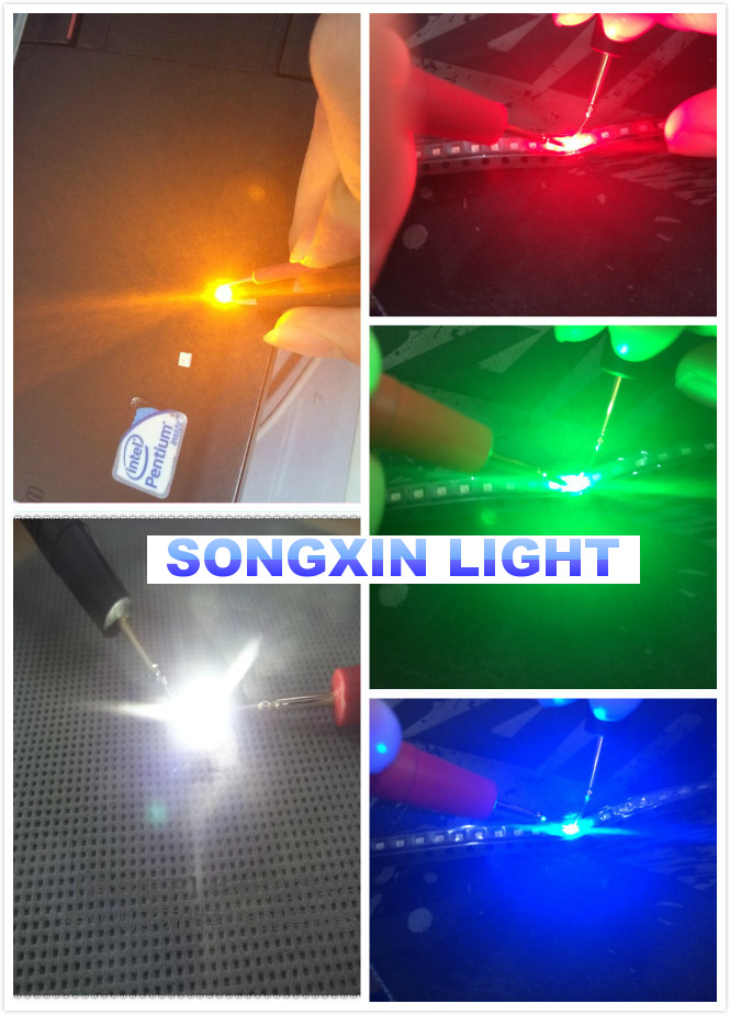 5 colors x20pcs =100pcs SMD 0603 led Super Bright Red/Green/Blue/Yellow/White Water Clear LED Light Diode 1.6*0.8*0.6MM(China (Mainland))