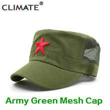 KLIMAAT Communistische Cap Caps Hoeden Mannen Rode Ster Army Cap Party Mannen Internationale Brigades Platte Top Cool Army Militaire Hoed caps Man(China)
