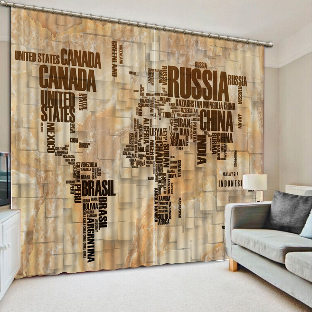 Map curtains