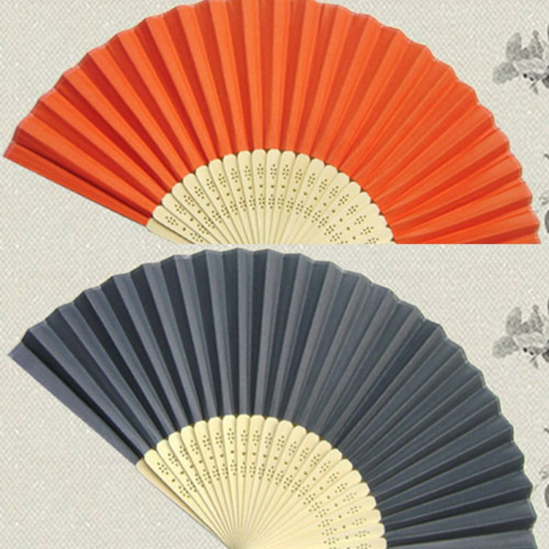 Chinese Style Outdoor Wedding Party FavorBamboo&Paper Pocket Fan Folding Hand Held Fans(China (Mainland))