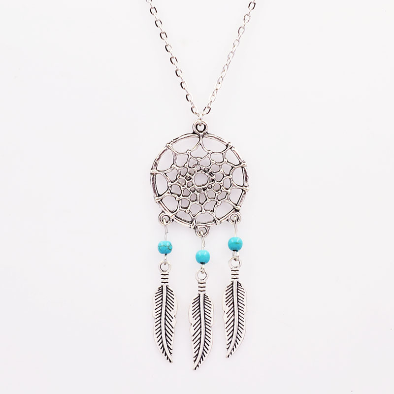 New Fashion accessories jewelry Dream catcher leather pendant necklace gift for women girl wholesale N1685(China (Mainland))