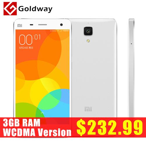 """Original Xiaomi Mi4 M4 Mi4i 16GB 3G WCDMA Phone 5.0"""" 1920*1080P Snapdragon801 Quad Core 3GB RAM 13MP Android 4.4 MIUI 6 Goldway(Hong Kong)"""