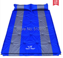 Couple inflatable mattress!3cm thick cushion can be spliced automatic inflatable tent moisture pad mattress multiplayer(China (Mainland))