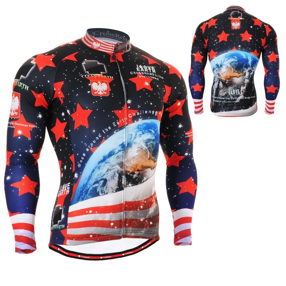 1001 US All Stars / Long Sleeve Cycling Jersey & Pants Men's / Racing Bike Tops & Bottom Shirts MTB Bike Clothing S~3XL(China (Mainland))