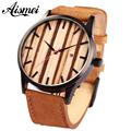 Brand calendar quartz men wood face watch designer 2016 man women leather sport watches casual wooden