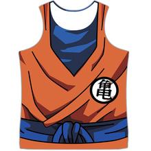 Men Dragon Ball Z Training GYM Tank Tops Son Goku Vegeta Vest(China (Mainland))