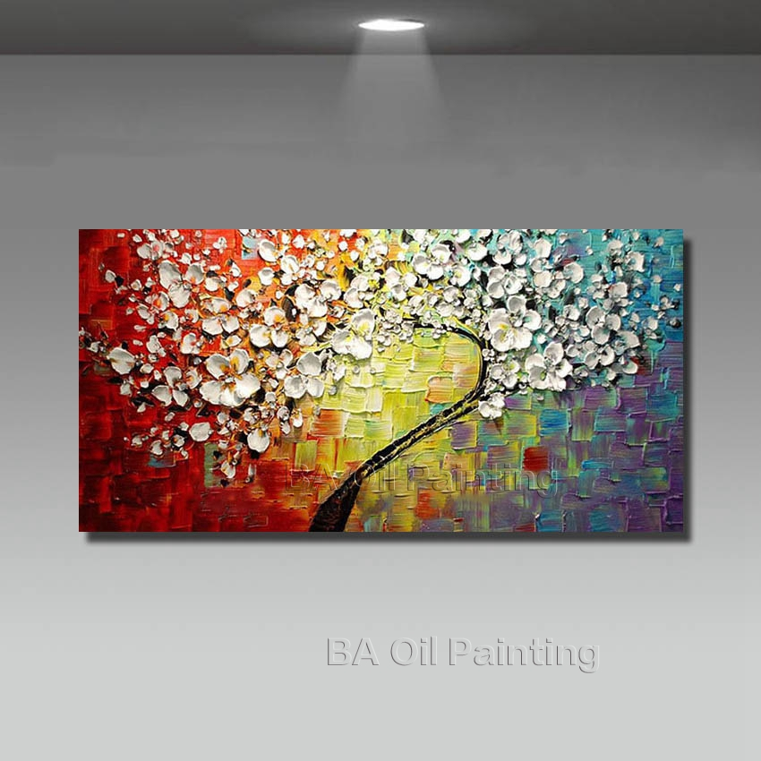 Wall Art Abstract Paintings Modern Oil Painting On Canvas Home Decoration Living Room Pictures Handpainted No Framed HF0010(China (Mainland))