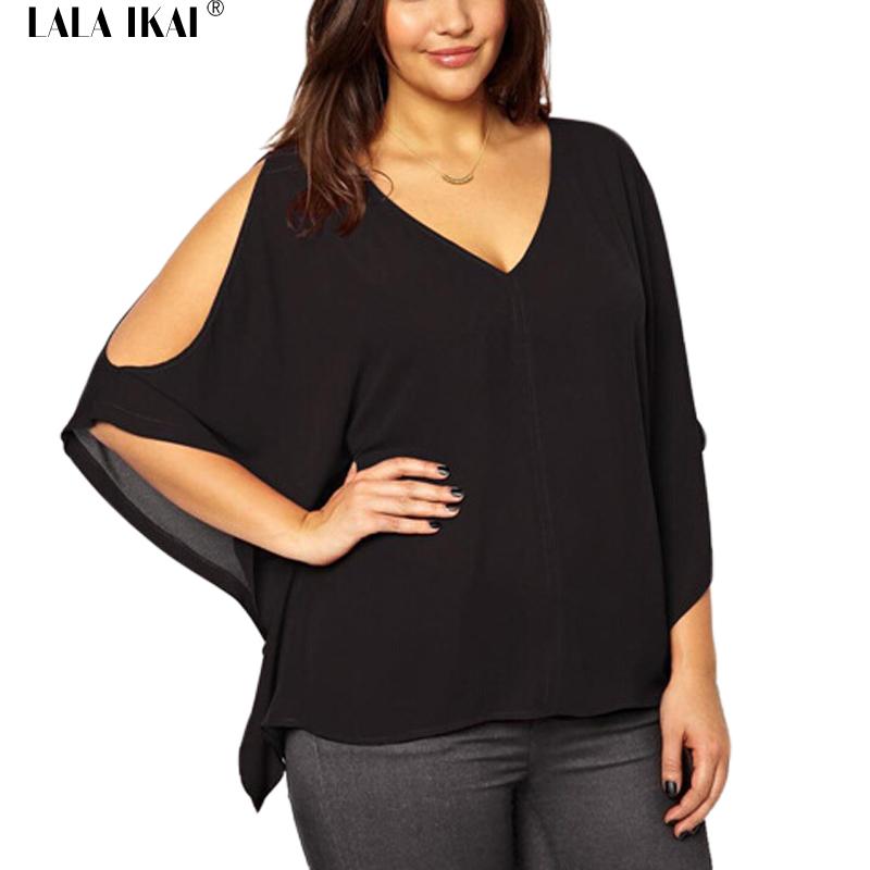 Plus Size 4XL-7XL Sexy Tee Shirt Femme Batwing Sleeve Summer Top Off The Shoulder Shirts Solid Tops Women 3XL 5XL 6XL SWB0346-5(China (Mainland))