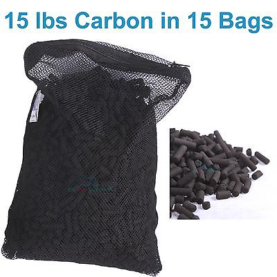 15 lbs (6.7kg) Activated Carbon in 15 Media Bags for Aquarium Fish Pond Canister Filter(China (Mainland))