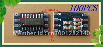 100x Mini RS232 to TTL Converter/level translator/Pegelwandler/Adapter Module Board/Serial transfer MAX3232CSE 120kbps Free ship