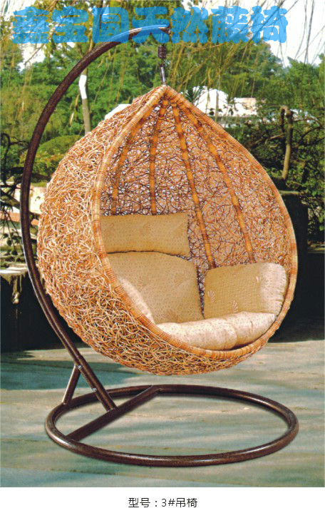 Rattan hanging chair indoor small fresh balcony swing bird nest cage chair inpatio swings from