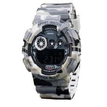 Nueva multifunción electrónica de camuflaje militar para hombre reloj impermeable del alpinismo al aire men ' s reloj