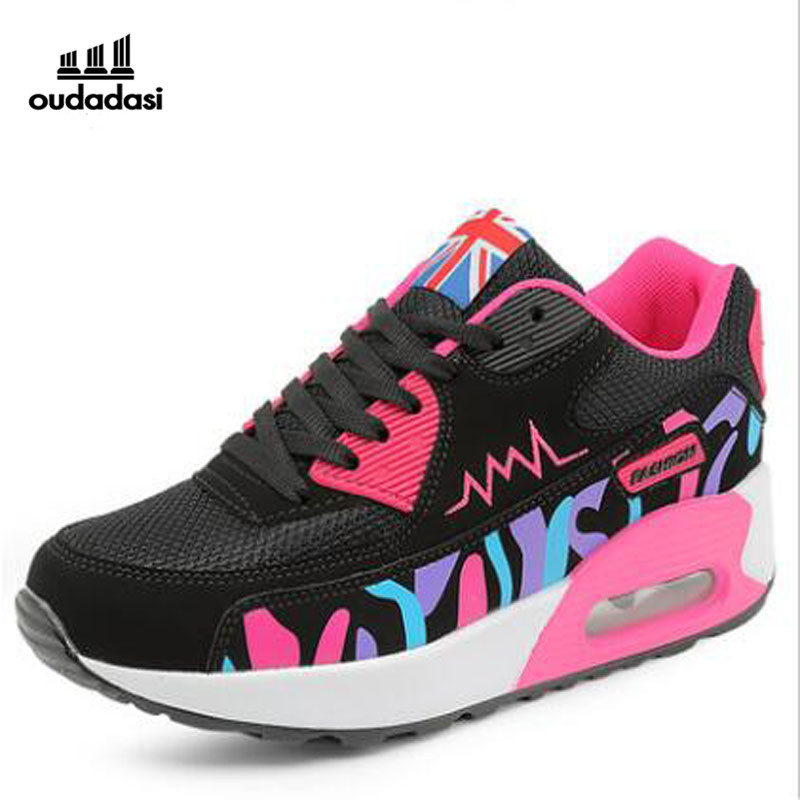 OUDADASI 2017 Women Brand Sports Shoes Woman Light Running Shoes Breathable Mesh Super Outdoor Women Athletic Sneakers 22color(China (Mainland))