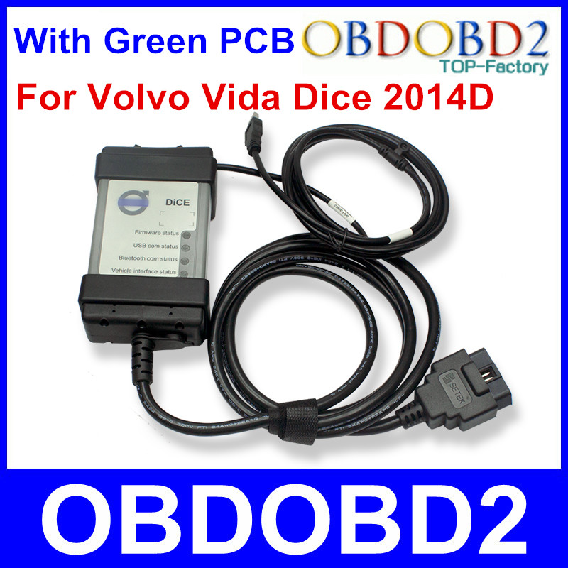Multi-Function Diagnostic Tool For Volvo Vida Dice Pro Newest 2014D With Multi-language Full Chip Green PCB For Volvo Dice Vida(China (Mainland))