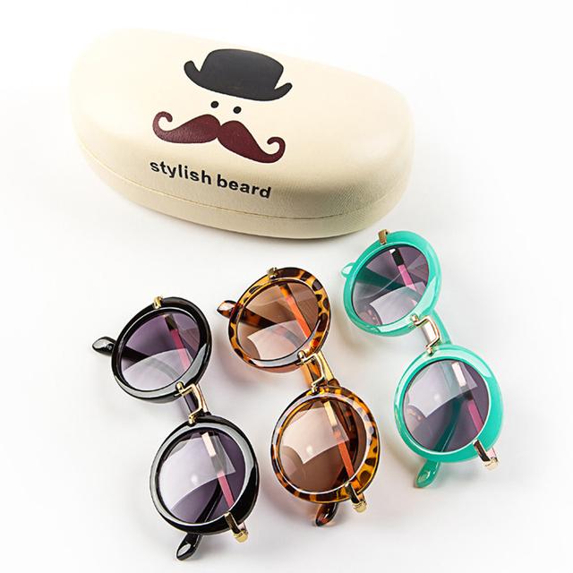 2015 новый мальчиков солнцезащитные очки урожай круглый солнцезащитные очки UV 400 ...