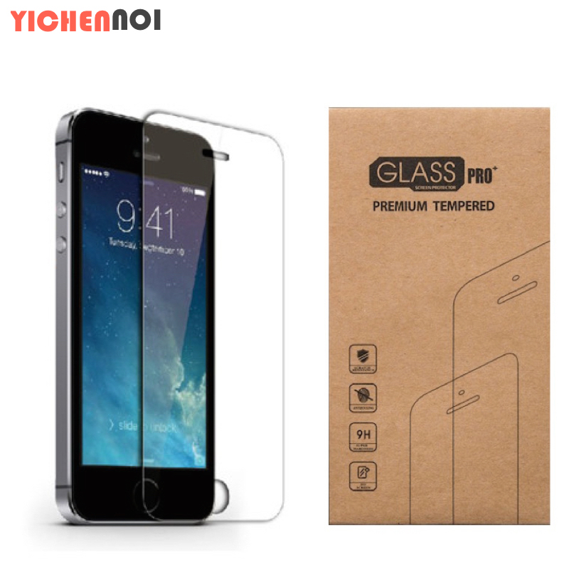 For iphone 4 4S Screen protection film of water and dust resistant safety Tempered glass with transparent packaging 0.3mm 2.5D(China (Mainland))