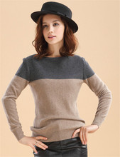 Autumn&Winter Sweater 2014 NEW Women Fashion Pullovers O-Neck Patchwork Knitted Cashmere Sweaters