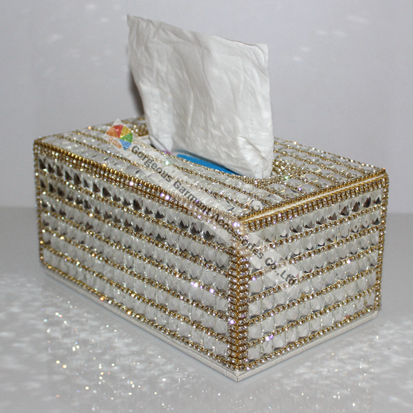 100% Handmade Luxury Clear Crystal Rhinestone Tissue Holder Napkins Box Gold Sliver For Selection Car Bedroom Office Best Gifts(China (Mainland))