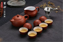 2014 small size Chinese Yixing Clay teaset, 150ml teapot + 8 pieces 30ml cup, purple clay tea set